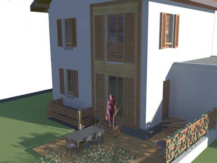 Transformation de  Maison Individuelle MI09 : Façade coté jardin