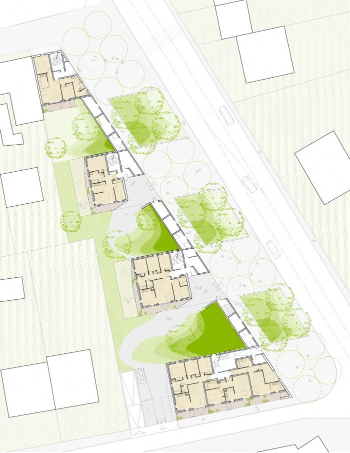 30 logements locatifs sociaux en BBC : PLAN RDC 200 A1