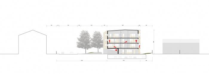 30 logements locatifs sociaux en BBC : COUPE TRANS color copiearchi