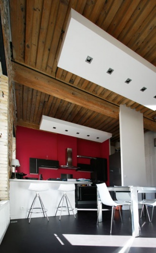 Rénovation d'un appartement à la Croix Rousse. : cuisine contemporaine