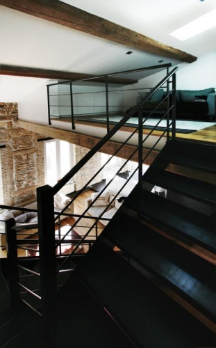 Rénovation d'un appartement à la Croix Rousse. : escalier comble