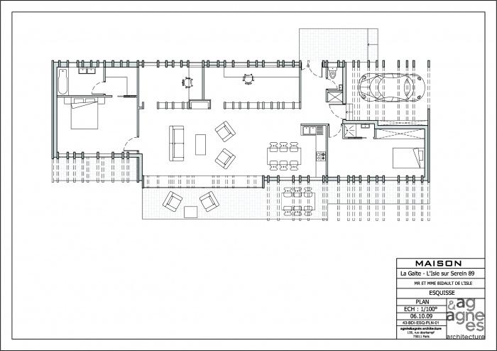 Maison à ossature bois : plan