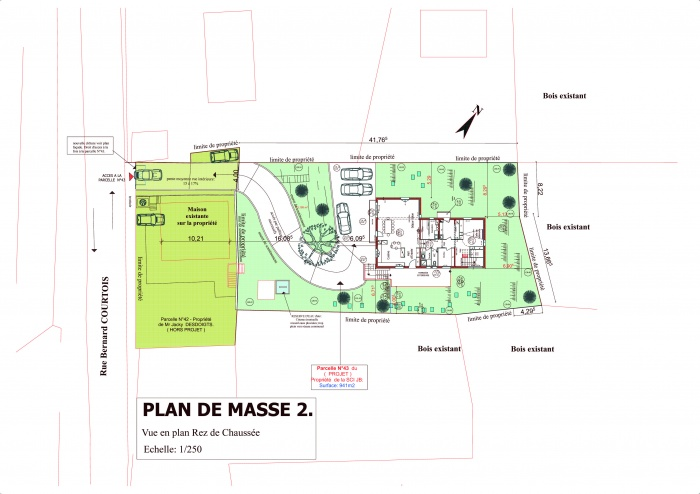 VILLA  Mr & Mme N'GOVINASSACK : Plan de Masse- RDC