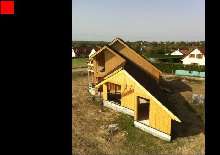 Maison BBC en cours de réalisation dans la Nièvre : j