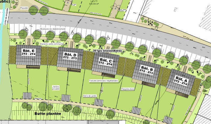 Les Jardins de Saint Germain : Plan Masse