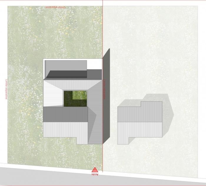 Re-interprétation pavillonnaire : plan masse
