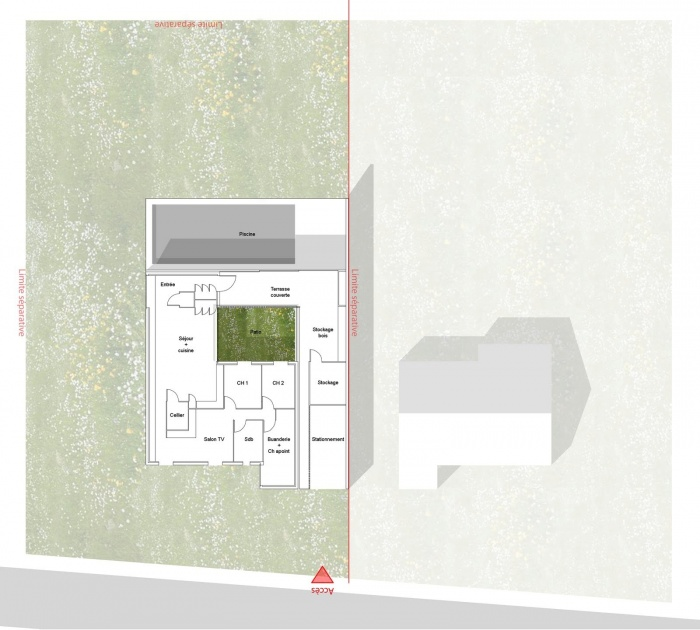 Re-interprétation pavillonnaire : plan Rdc