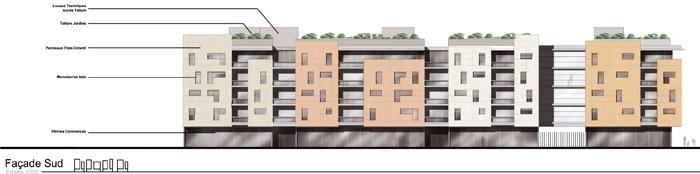 Concours-construction de 90 logements et commerces : fa S