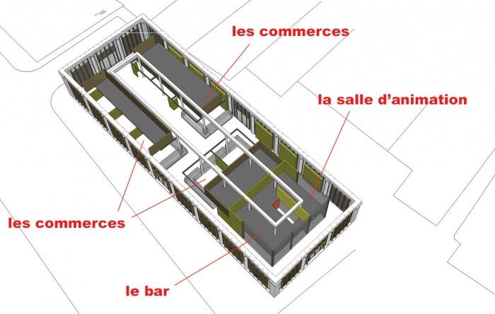 Halle de La Martinière : 4_bc1114_esq_b2_vue axo intérieure