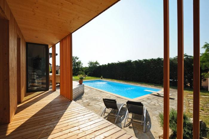 Maison contemporaine bois & ouate de cellulose / Basse énergie : 04_PARA