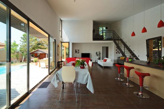 Maison contemporaine bois & ouate de cellulose / Basse énergie : 06_PARA