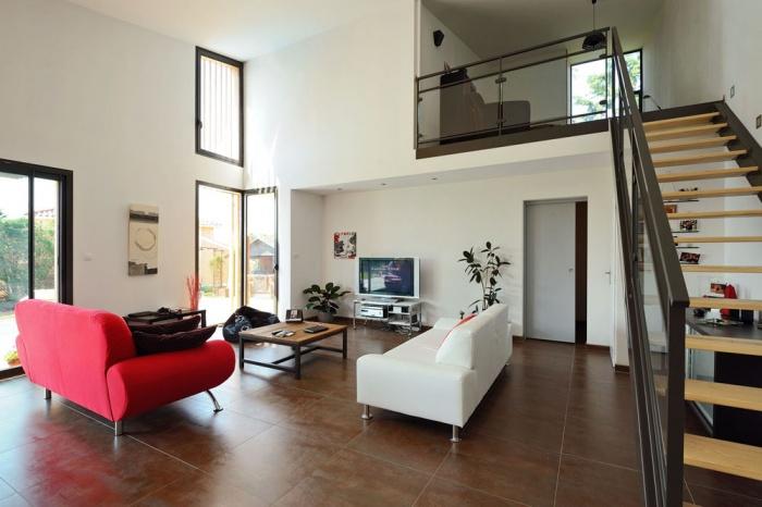 Maison contemporaine bois & ouate de cellulose / Basse énergie : 09_PARA