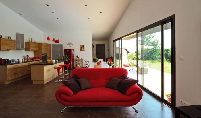 Maison contemporaine bois & ouate de cellulose / Basse énergie : 11_PARA