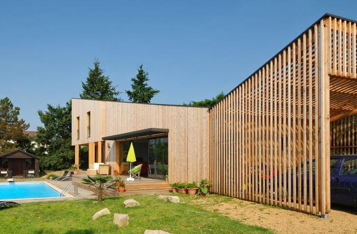 Maison contemporaine bois & ouate de cellulose / Basse énergie : 19_PARA