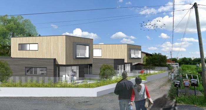 2 maisons contemporaines BBC : insertion lointaine