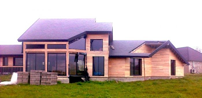 Maison BBC en cours de réalisation dans la Nièvre : architecte maison bois 2