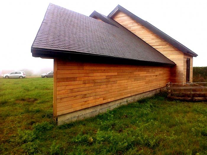 Maison BBC en cours de réalisation dans la Nièvre