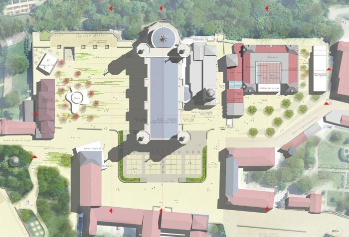 Un dessin pour Fourvière : plan de masse