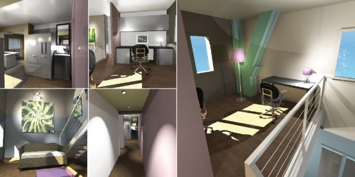 rénovation et aménagement Contemporain complet d'une partie d'une maison