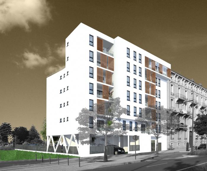 Création de 25 logements : perspective gambetta réduite
