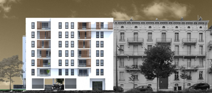 Création de 25 logements : facade gambetta