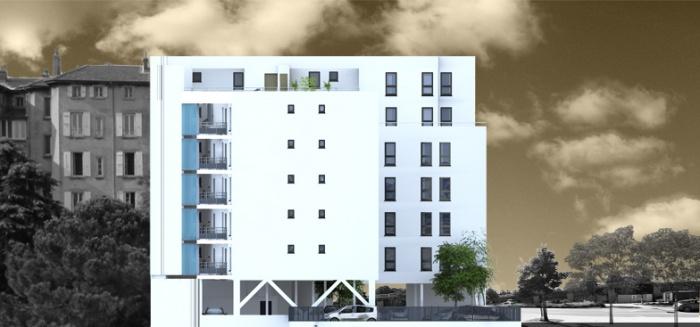 Création de 25 logements : elevation interieur