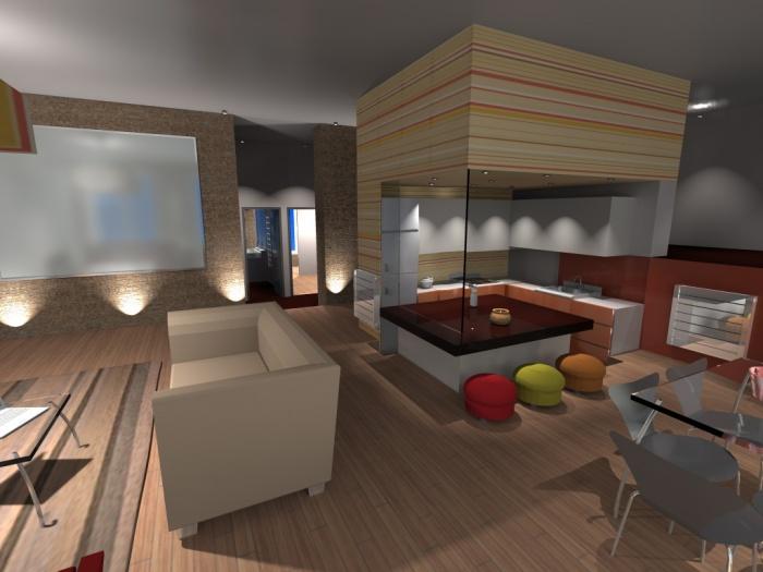Rénovation totale d'un appartement dans un immeuble de la fin du 19e. : 1-2