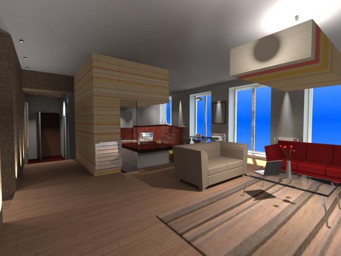 Rénovation totale d'un appartement dans un immeuble de la fin du 19e. : 1-3