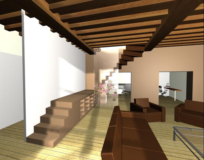 Rénovation complète d'un appartement en duplexe sous les combles.