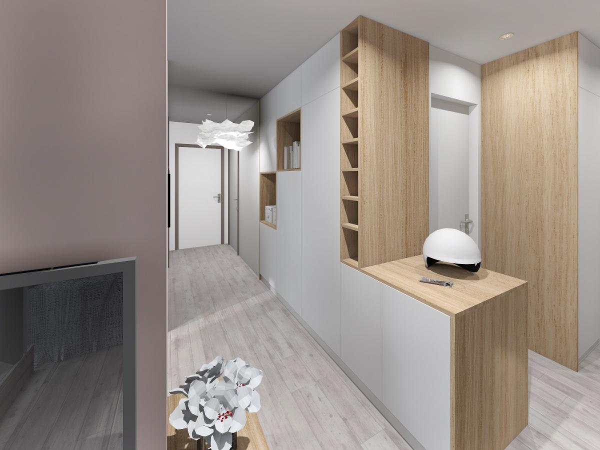 Rénovation d'un appartement de 65m² : couloir