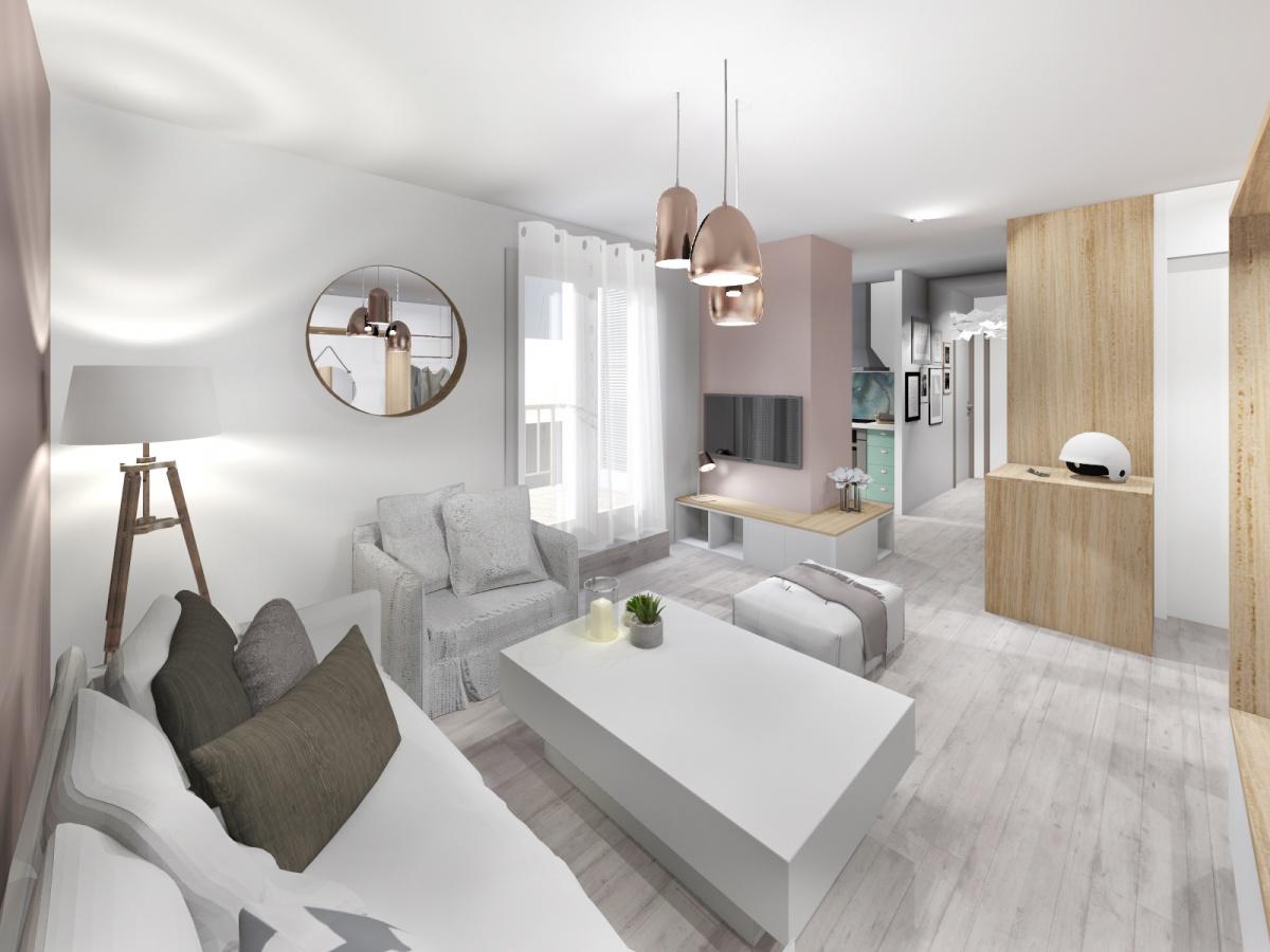 Rénovation d'un appartement de 65m² : salon_1