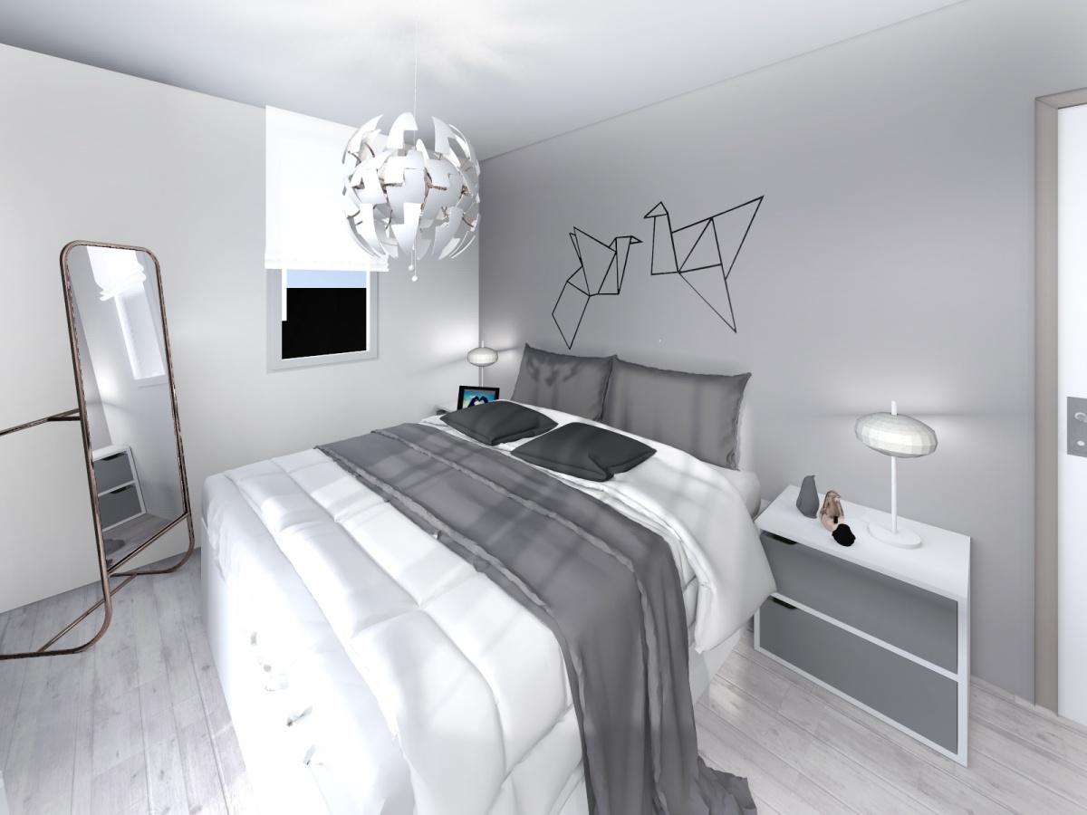 Rénovation d'un appartement de 65m² : chambre _2